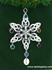 Celtic Claddagh Let Love Reign Birthstone Snowflake Ornament (sw5058love)