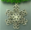 Pewter Candy Cane SnowWonders® Snowflake Pewter Ornament/Pendant (#SW5820)