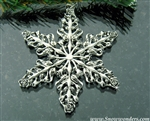 Blooming Rose and Rose Bud SnowWonders® Snowflake Ornament(SW6050)