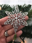 My Irish Family Connemara Heart SnowWonders® Snowflake Ornament,(6051connemara), Celtic Ornament, family