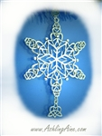 Sister Knot Celtic SnowWonders® Ornament, Celtic Snowflake Ornament, (6052Sisterknot SW), family Ornament