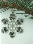 Scottish Thistle & Luckenbooth SnowWonders® Snowflake Christmas ornament (SW6056) Scottish Christmas Ornament