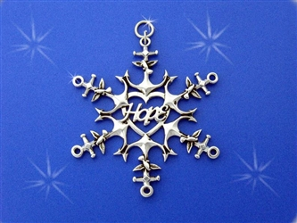 Nautical Hope Snowflake ornament SnowWonders, Anchor Ornament, Anchor & Dove Hope Snowflake, Collectible Snowflake, Adoption Snowflake