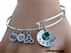 """Irish & Proud of It!"" Hand Stamped adjustable Bangle (STAMP1)"