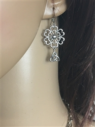 TRINITY Love Grows Heart and Flower Earrings,(HM111) Irish, Scottish , Christian Mommy and Me