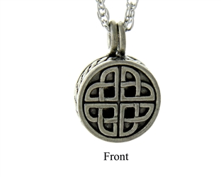 Pewter Celtic Love Knot Diffuser Necklace(pew727)