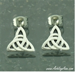 NEW 316L Stainless Steel Modern Trinity Knot Post Earrings(S141)
