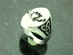 Men's 316 L Stainless Steel Trinity Claddagh Signet Ring