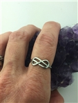 Forever & Always Infinity Knot/Ribbon of life Ring (S295) Celtic, Irish, Scottish, Welsh, Christian Ring.