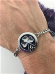Field Of Faith Shamrock/Trinity Bracelet/anklet (S311) Irish