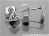 316L Stainless Steel Wee Trinity knot Post Earrings (S87)