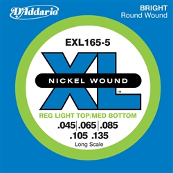 D'Addario EXL165 Nickel 45-65-85-105-135