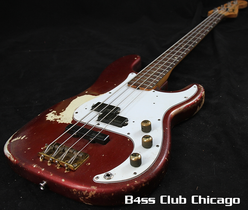 1966 1969 Fender Precision Bass Candy Apple Red Pre Owned