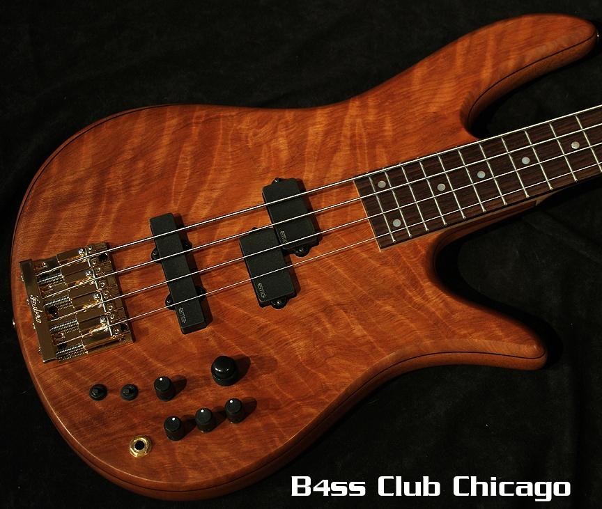 Fodera Monarch Deluxe 4 Select Flame Redwood 6453