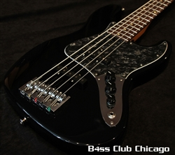 Mike Lull V5 Black and Matching Headstock