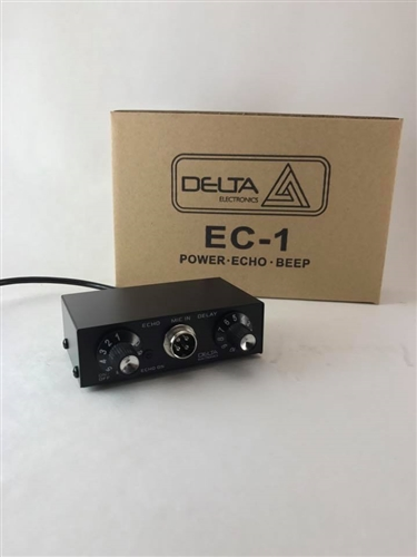 DELTA EC1 DYNAMIC MIC AMPLIFIER / ECHO CHAMBER w/ ROGER BEEP 4 pin Cobra CB