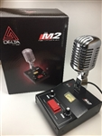 Delta Electronics M2 Chrome Amplified Powered Base CB HAM Microphone