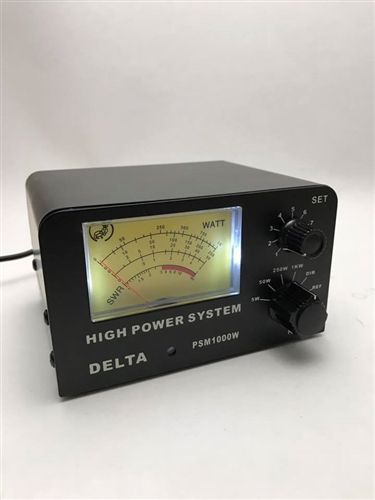 DELTA PSM1000W 1000 WATT SWR & POWER METER CB HAM RADIO ANTENNA METER  3-200MHz