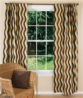 Retro Wavy Print Window Curtain