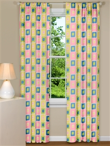 Trendy Geometric Window Curtains