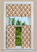 Kitchen Curtain with Glam Design in Orange