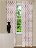 Modern Curtains With Embroidered Curtain Panel Design in Rosewood