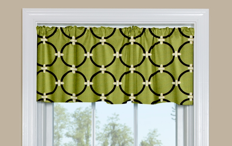 Redondo Green Kitchen Valance