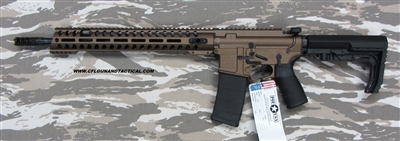 POF-USA GEN RENEGADE+ Rifle, Patriot Ordnance Factory 5.56 Nato (223) Cerakoted Burnt Bronze, Ultra light weight direct impingement rifle SKU 00910