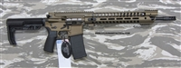 "POF USA P415 Warhog Light EDGE 16"" Burnt bronze cerakote finish, 5.56mm with E2 extraction, Patriot Ordnance Factory gas piston rifles in stock. SKU 01145"