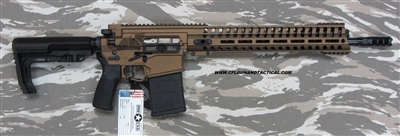 "POF USA Revolution GEN 4 EDGE P308 16""   Burnt Bronze Cerakote from Patriot Ordnance Factory gas piston 7.62MM rifle SKU 01467"