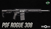 "POF USA ROGUE  308 16""   BLACK from Patriot Ordnance Factory gas piston 7.62MM rifle SKU 01662"