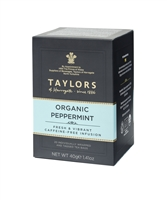 Taylors of Harrogate Organic Peppermint - 20  Wrapped Tea Bags