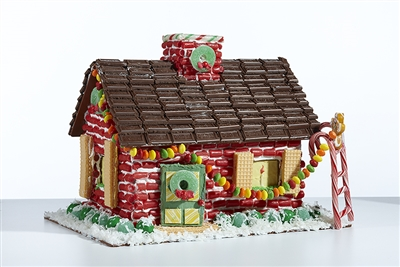 the reusable gingerbread house