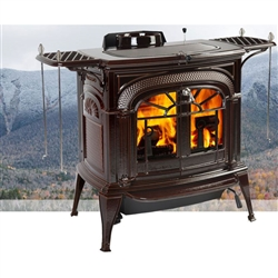 Vermont Intrepid Flexburn Cast Iron Wood Burning Stove