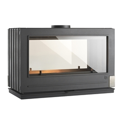Invicta Aaron See-Thru Wood Burning Stove