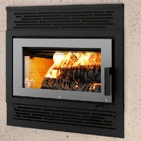 The Ventis HE250 High Efficiency Zero Clearance Wood Burning Fireplace and more heating products at Obadiah