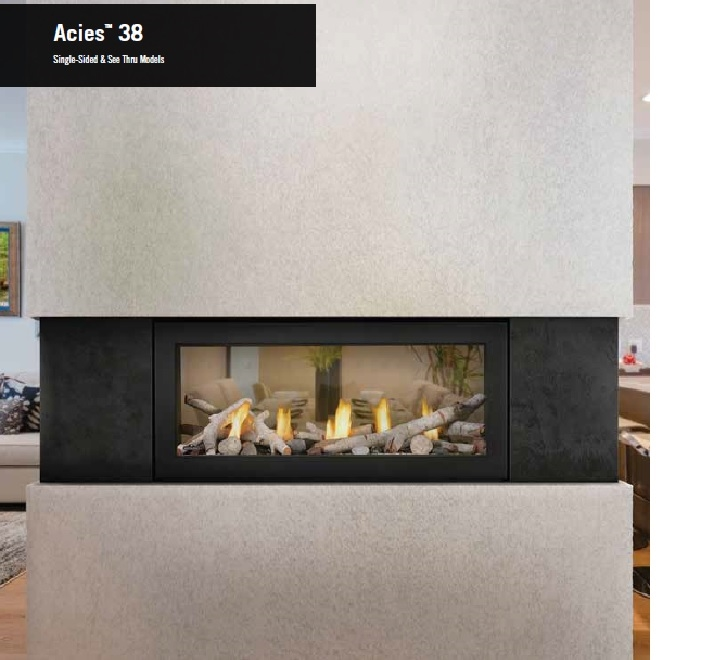 Napoleon L38 Acies See Thru Linear Direct Vent Gas Fireplace on