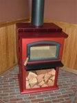 The Mahogany Breckwell Wood Burning Stove