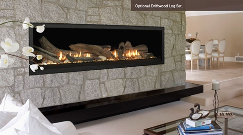 Majestic Aura Direct Vent Linear Gas Fireplace and more at Obadiah