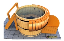 Northern Lights Classic HT8 Cedar Hot Tub
