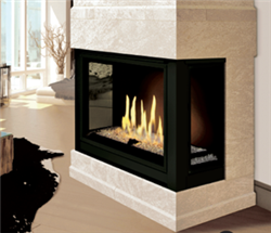 J.A. Roby Sirocco Direct Vent Panoramic Gas Fireplace