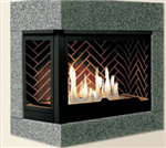 J.A. Roby Auster/Mousson Direct Vent Gas Fireplace