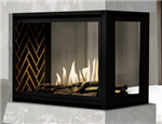 J.A. Roby Mistral Peninsula Direct Vent Gas Fireplace