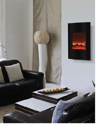 Amantii Wm 2134 Vertical Convex Electric Fireplace