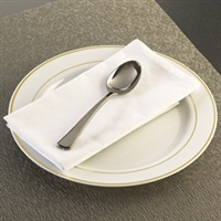 "Glimmerware EMI-GWTBS 600 7"" Plastic Silverware Tablespoon Silver Look Table spoon"