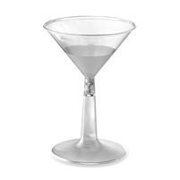 Emi-Yoshi 6 oz Disposable Plastic Martini Glasses