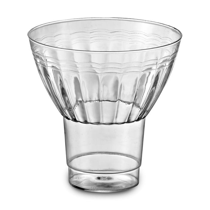 Finest EMI Yoshi Disposable Plastic Parfait Glasses & Ice Cream Cups EF81