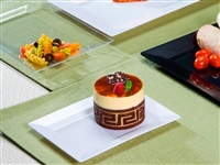 "Emi-Yoshi Emi-Rp6 7.5"" by 5.5"" Rectangle Disposable Plastic Dessert Plates"