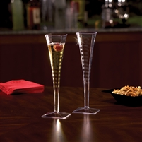 Emi-Yoshi Emi-Sfc5 Square Disposable Plastic Wedding Champagne Flutes