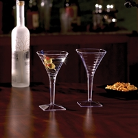 Emi-Yoshi Emi-Smtg8 Square 8 oz Large Disposable Plastic Martini Glasses